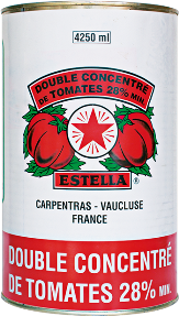 METAL double concentre de tomates ESTELLA 4250ml